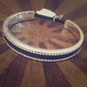 Jewelry - Silver and black (hair-tie) bangle